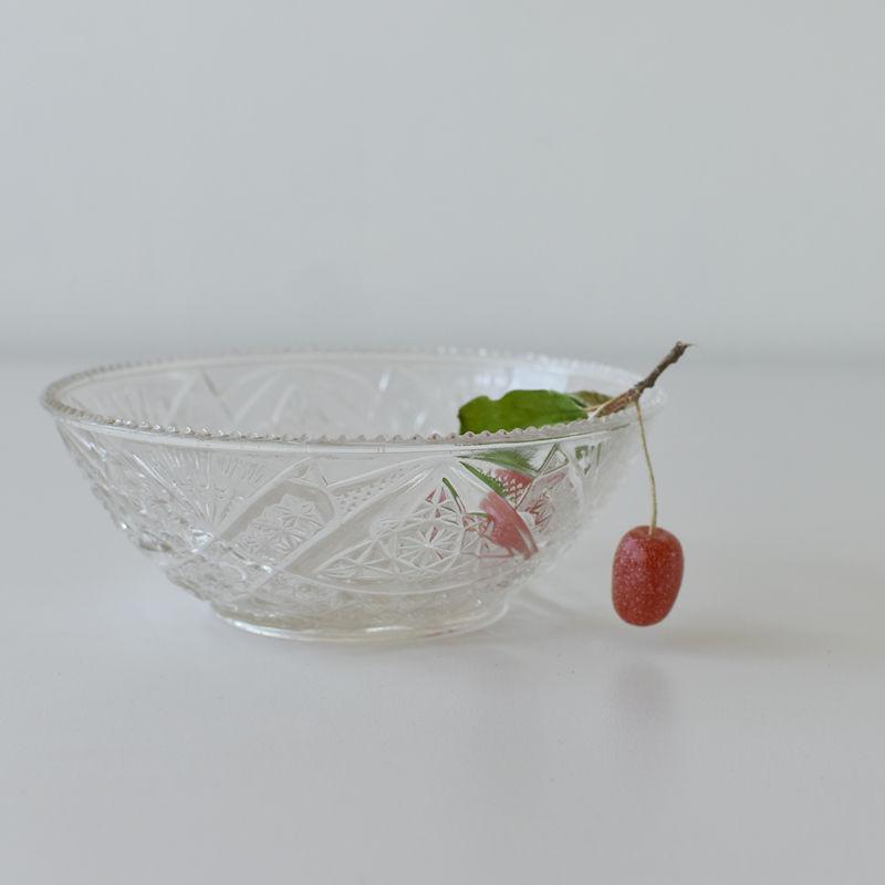 古道具部 プレスガラス鉢 小