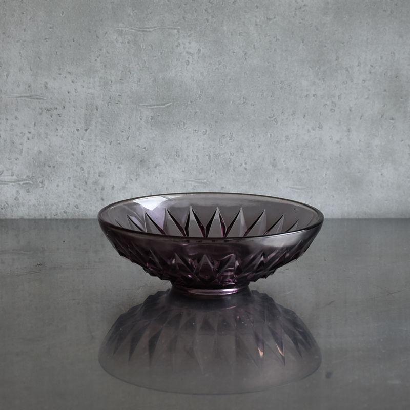 古道具部 プレスガラス鉢(パープル)