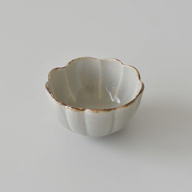 たくまポタリー ハナ 小鉢 やわグレー