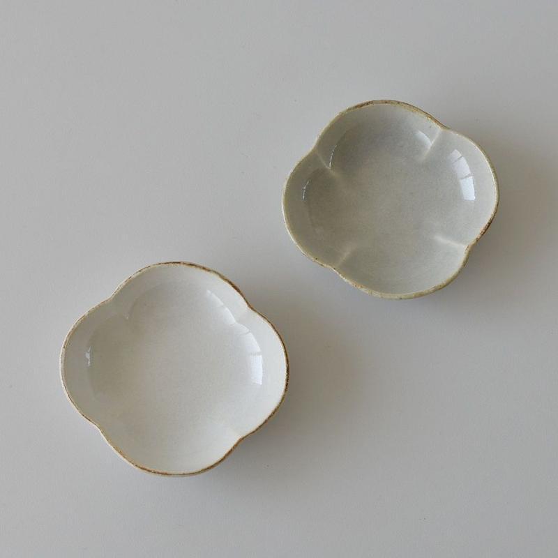 たくまポタリー 木瓜 小鉢 白・やわグレー