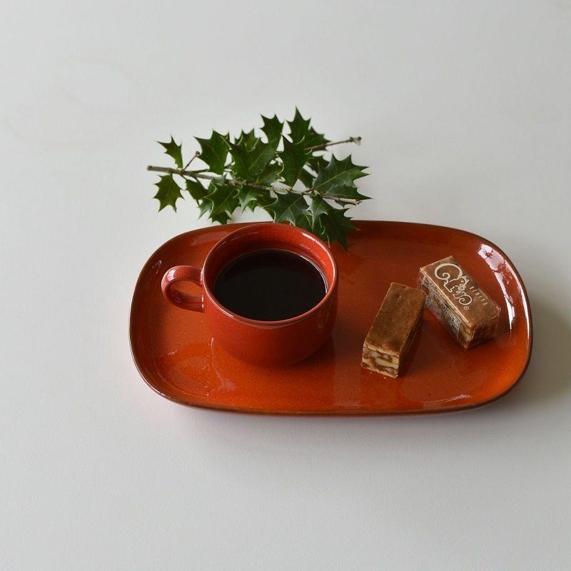 古道具部 ドイツ メリタ社 スクエア皿+ティーカップ