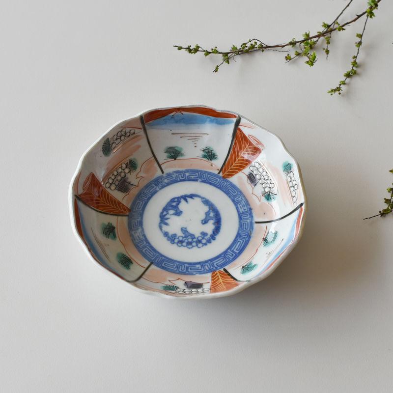 古道具部 色絵鉢 富士・松竹梅
