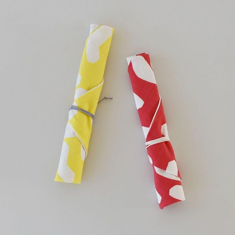 山﨑菜穂子 箸袋 りんご