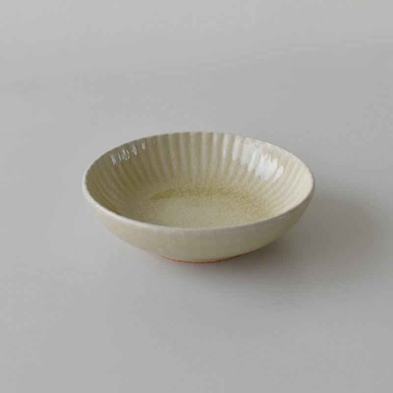 たくまポタリー 4.5寸皿 まる菊 はちみつ