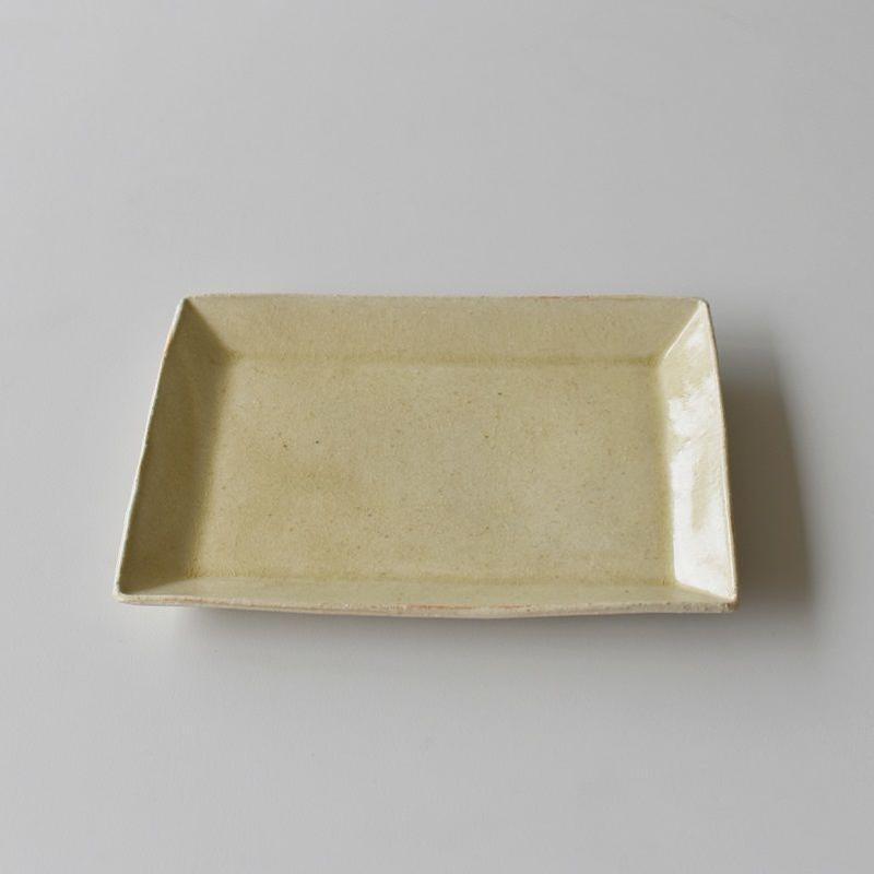 たくまポタリー 長方皿 はちみつ釉
