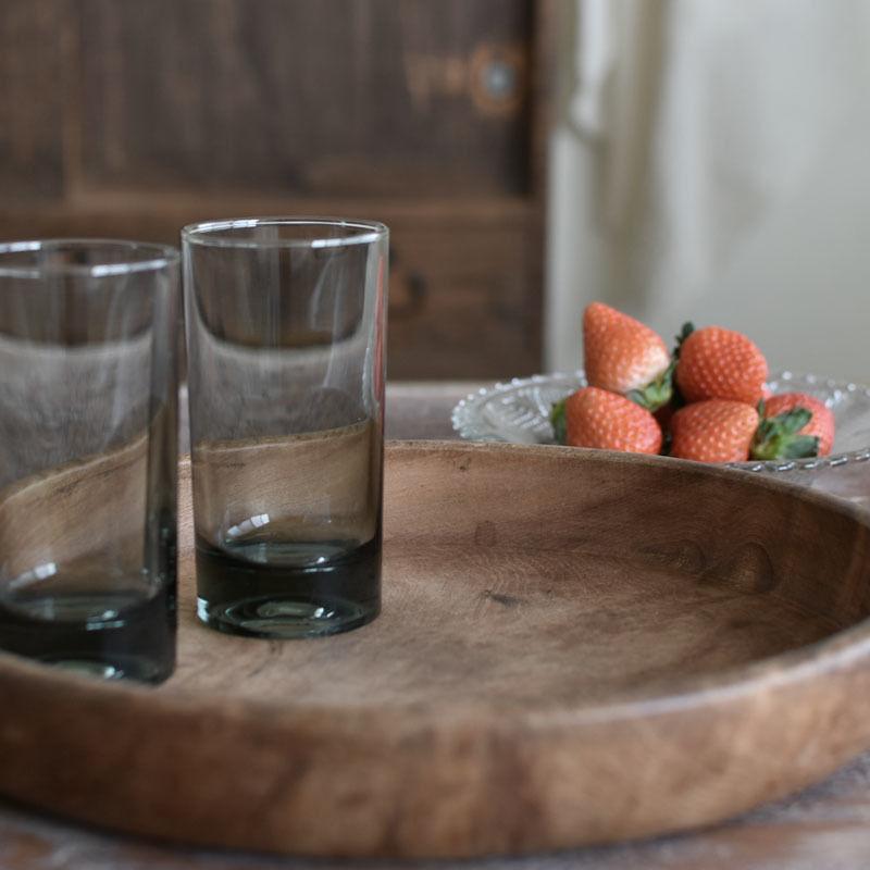 古道具部 ダーク色のグラス 2個セット