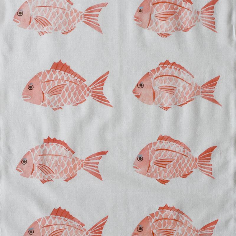 アケモドロ 型染め手ぬぐい 鯛