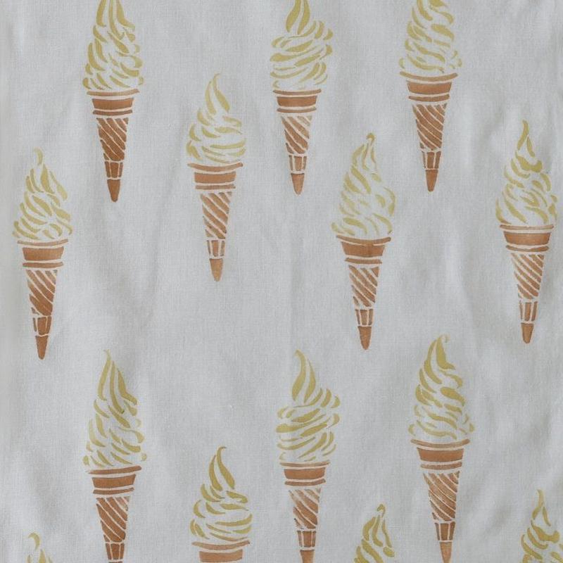 アケモドロ 型染め手ぬぐい ソフトクリーム