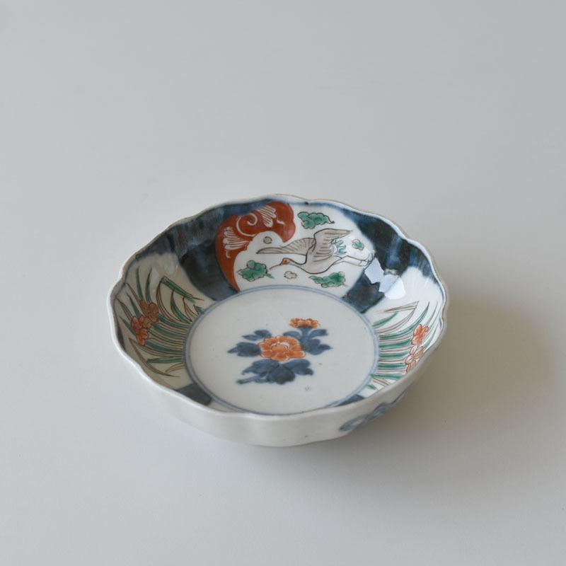 古道具部 色絵花なます皿