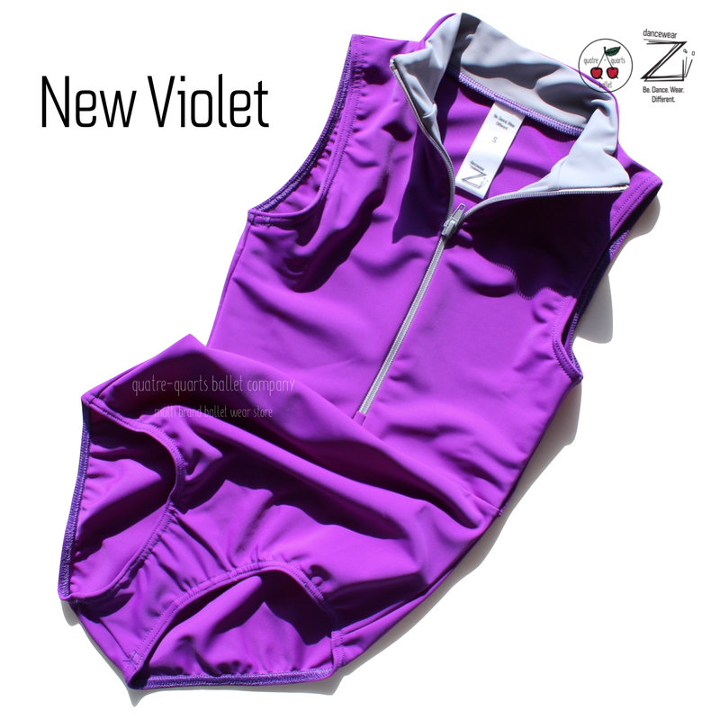 "[Zi dancewear] Zip leotard ""New Violet"""