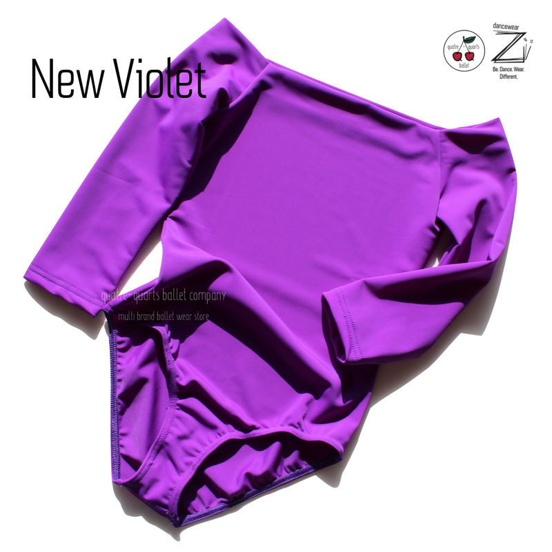 "[Zi dancewear] 2 Sleeves leotard ""New Violet"""