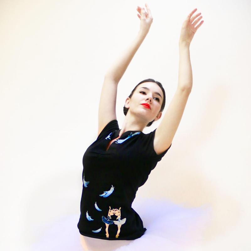 [Ballet Papier] EMPIRE T-SHIRT    'ODETTE AND ODILE'