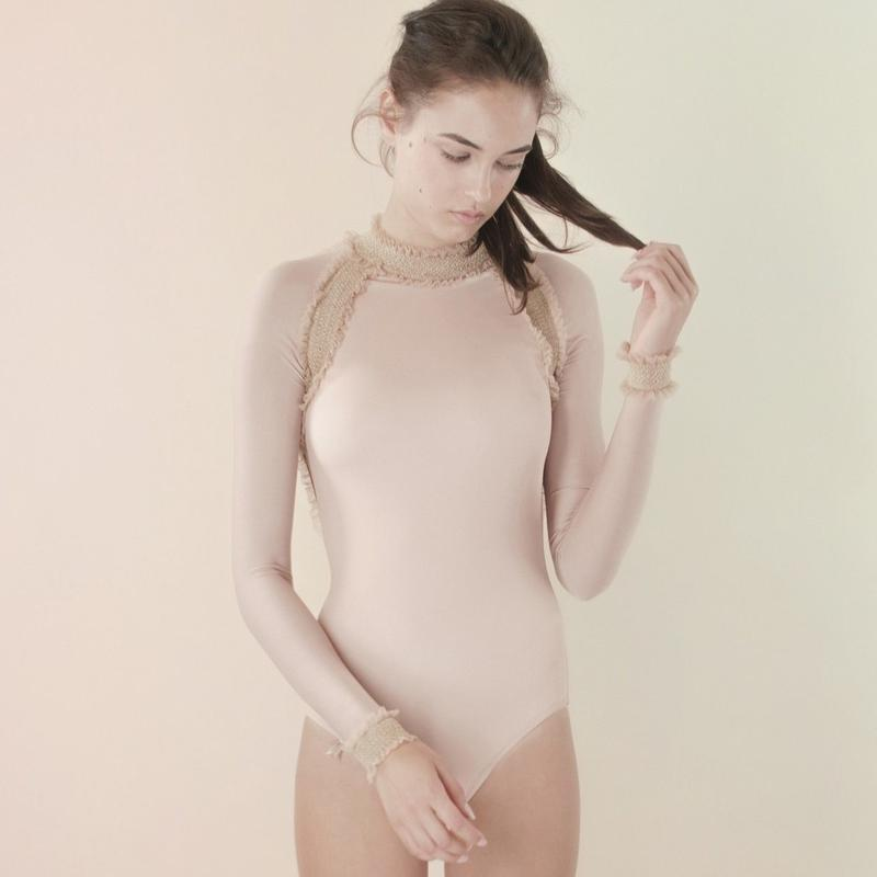 [Just A Corpse]  ELEANOR LIGHT – nude backless leotard