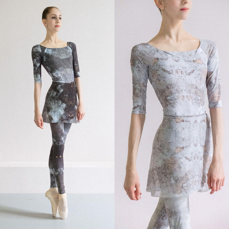 [Zi dancewear] Chiffon skirt (M丈), stained with the print Delicate Dirt & Mud