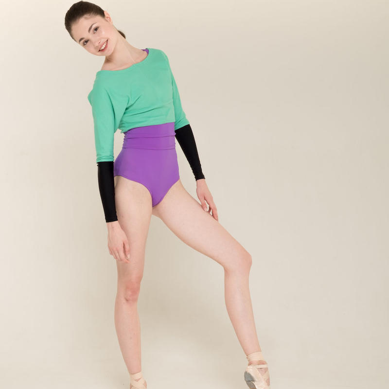 [Zi dancewear] Sweater with colour waist ・2型