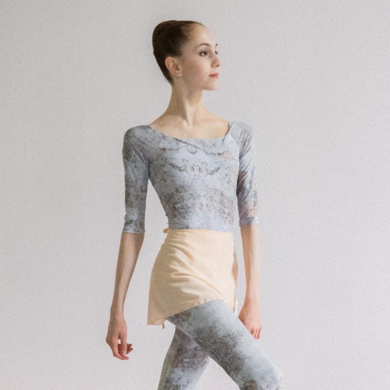 [Zi dancewear] Chiffon skirt (S丈), Plaster 'CALM'