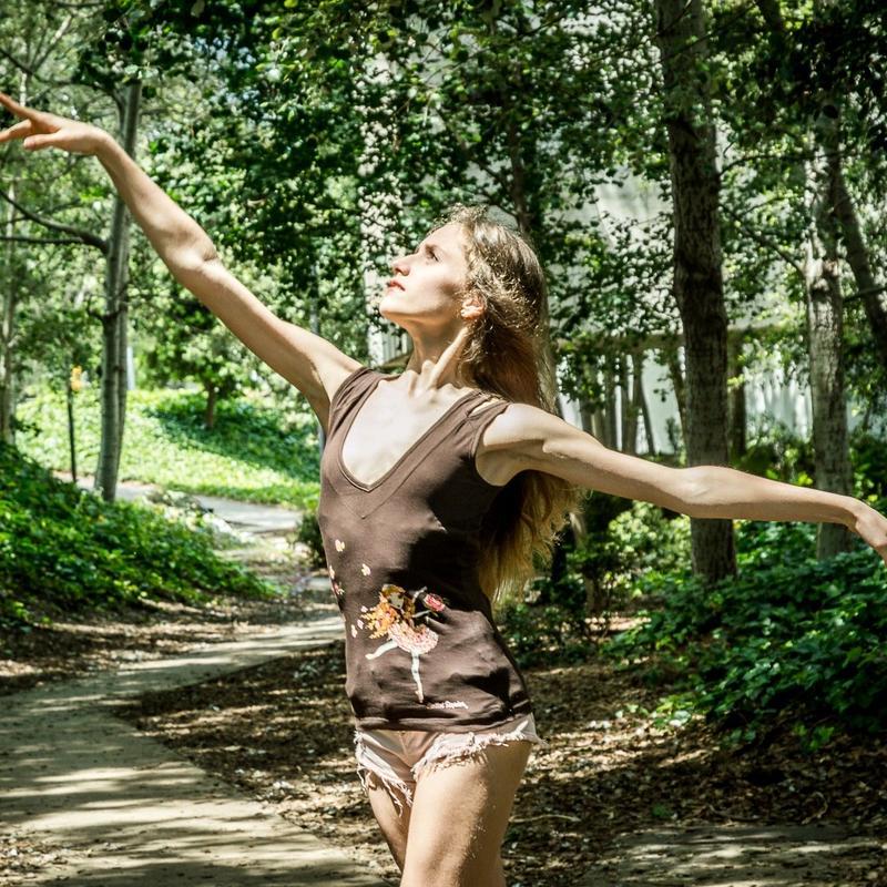[Ballet Papier] TANK TOP   'ROSE ADAGIO'