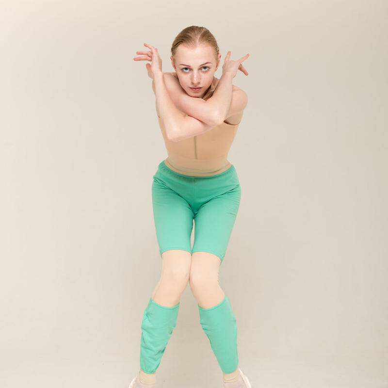 [Zi dancewear] Trousers with colour knee ・2型