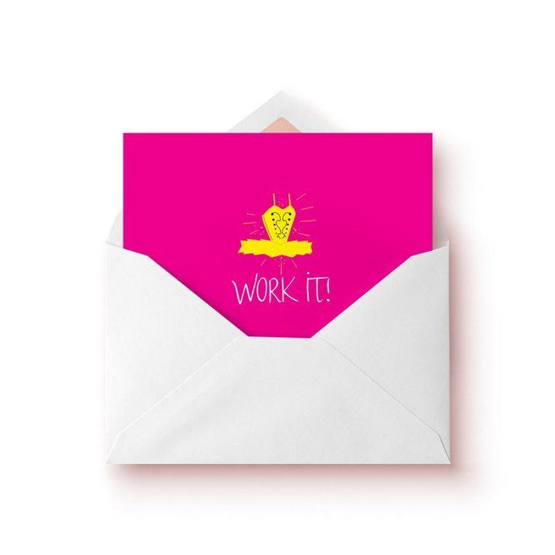 [The Ballet Bag] Work It! Tutu Card