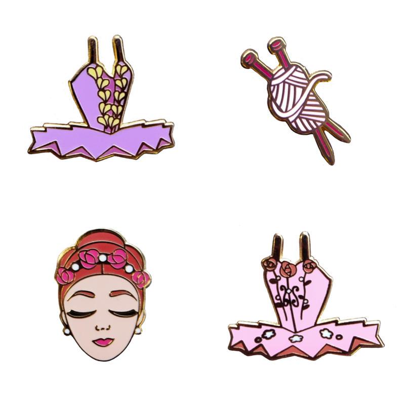 [The Ballet Bag] Sleeping Beauty Enamel Pins (Set of 4)
