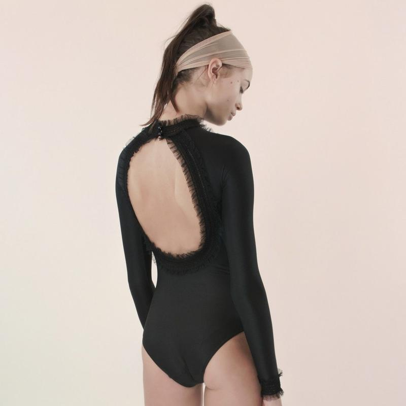 [Just A Corpse]  ELEANOR LIGHT – black backless leotard