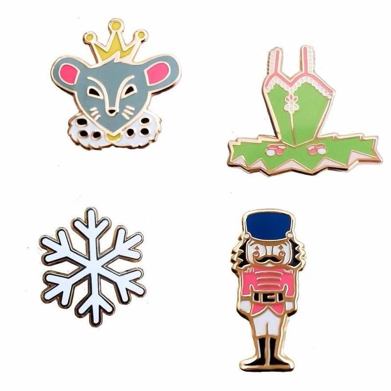 [The Ballet Bag] Nutcracker Enamel Pins (Set of 4)