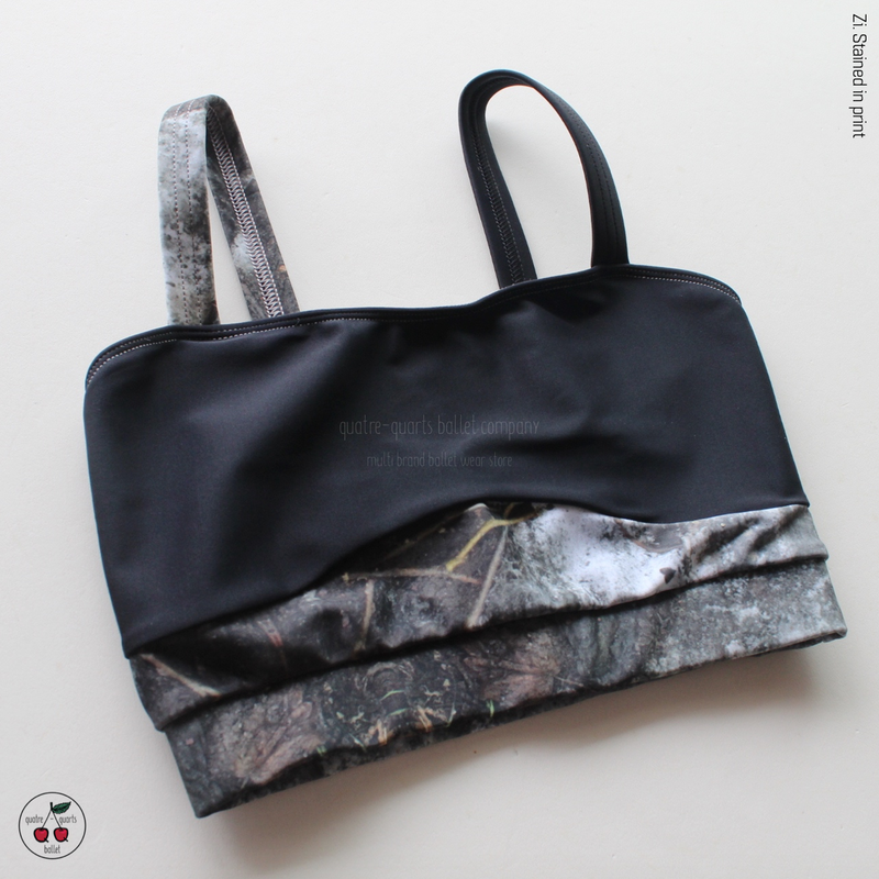 [Zi dancewear] Top Strap, stained with the print Mud