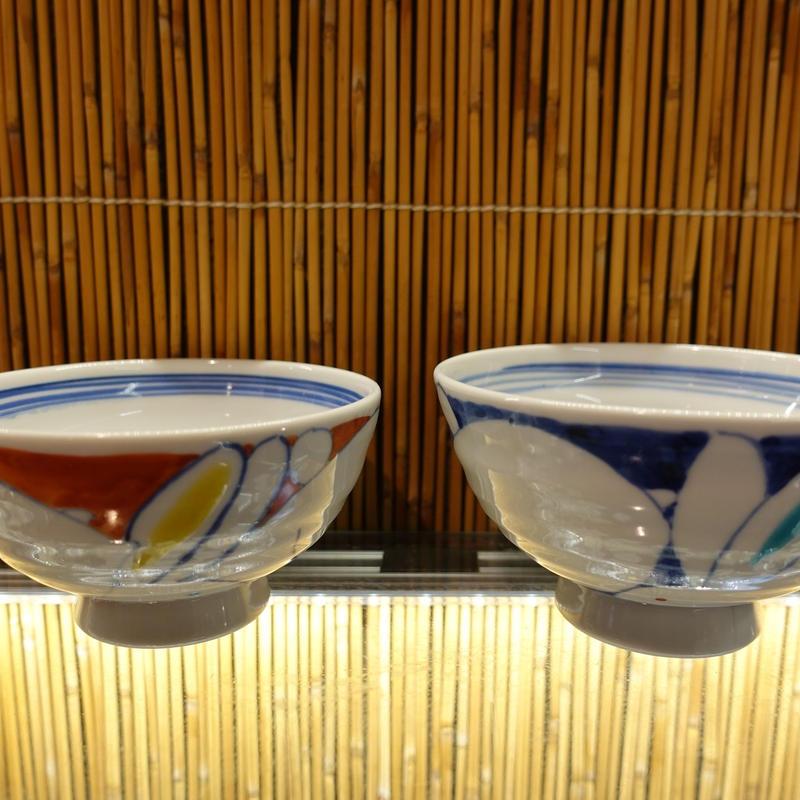 洋窯夫婦飯碗(うさぎ赤小)