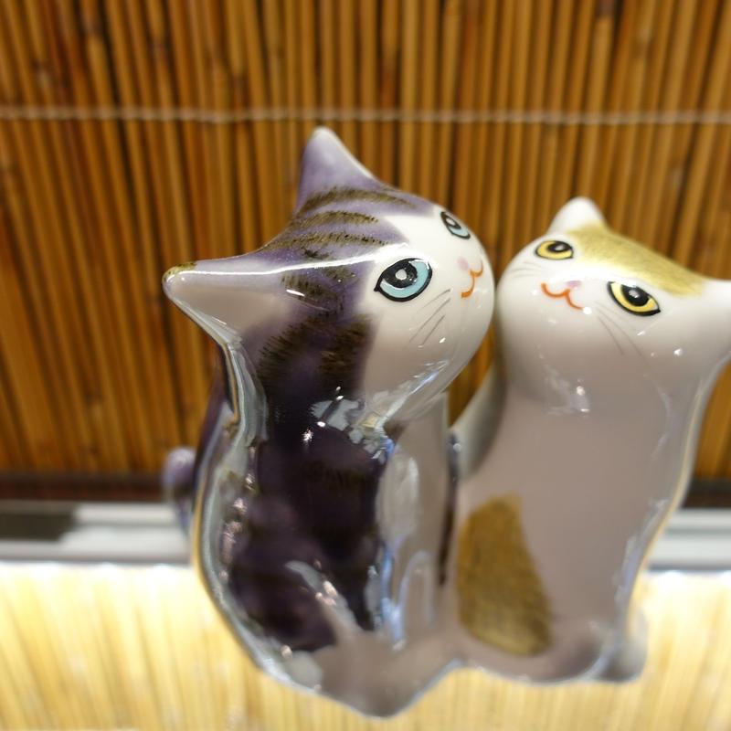 3.8G仲良し猫(紫金彩)