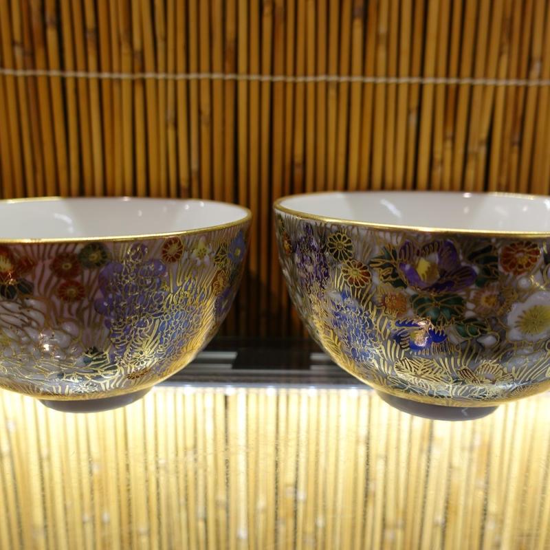 真山窯夫婦飯碗(花詰小)
