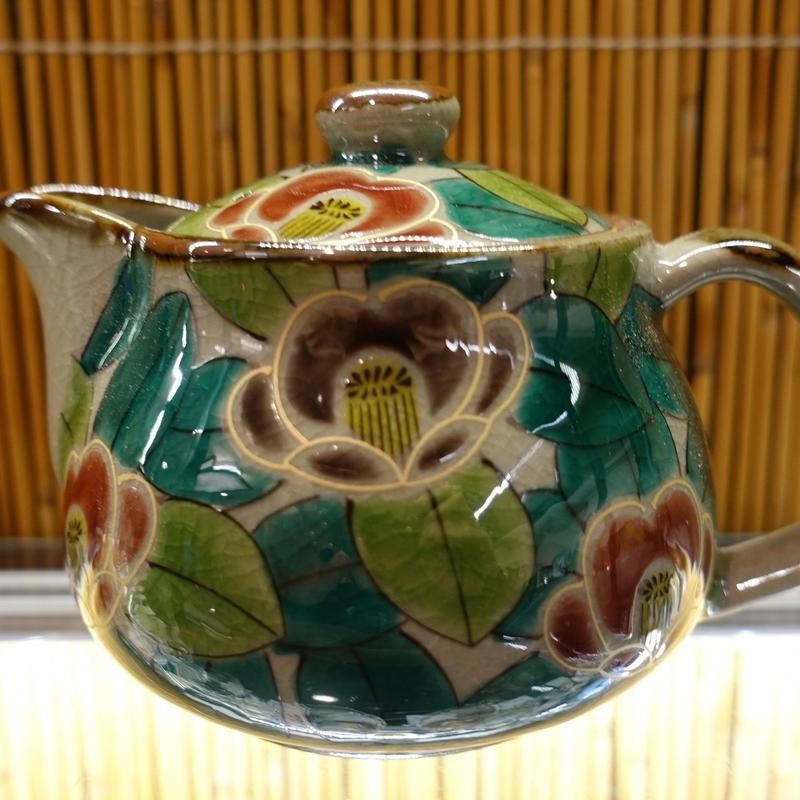 美山窯ポット(京山茶花)