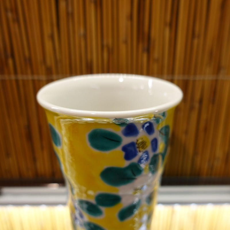 フリーカップ(花紋青白)