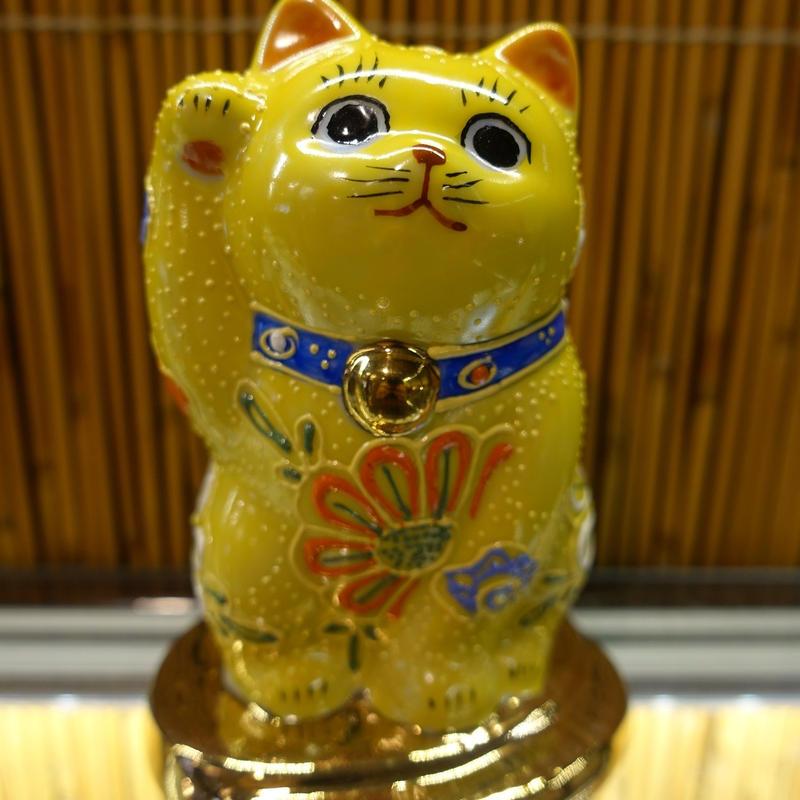 3.2G小判のり招き猫(黄盛右手)