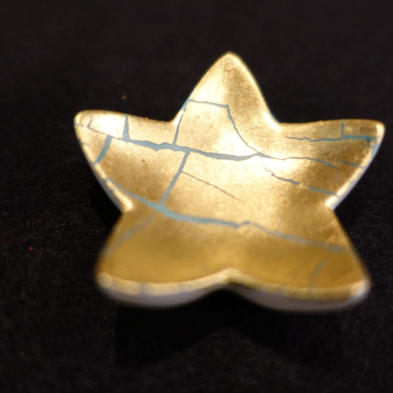 箸置き(星型金箔彩緑)