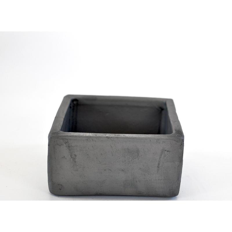 陶器鉢 -イブシ正角-