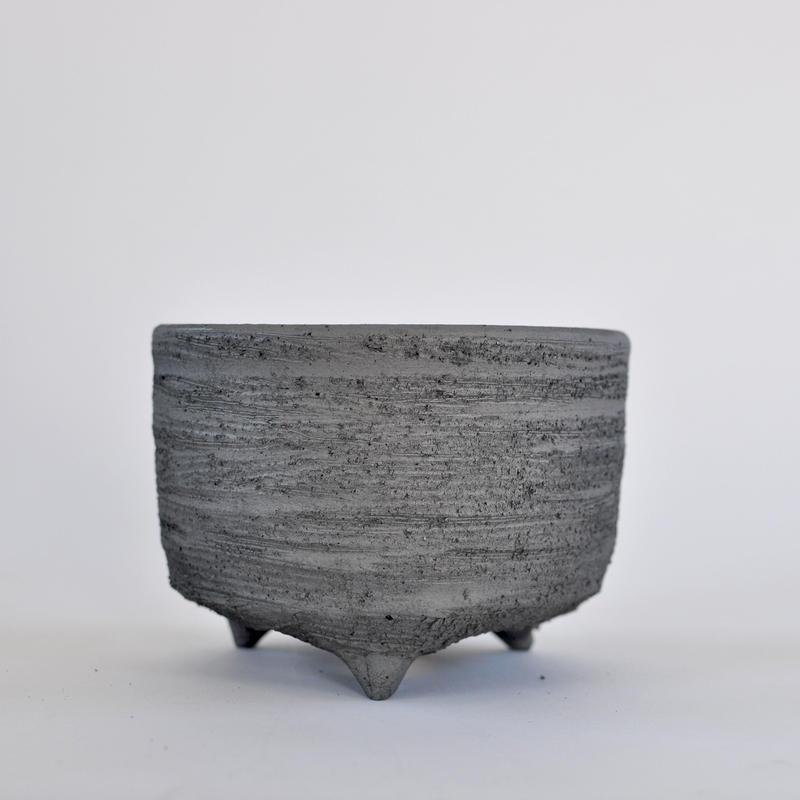 陶器鉢 -イブシ169 L-