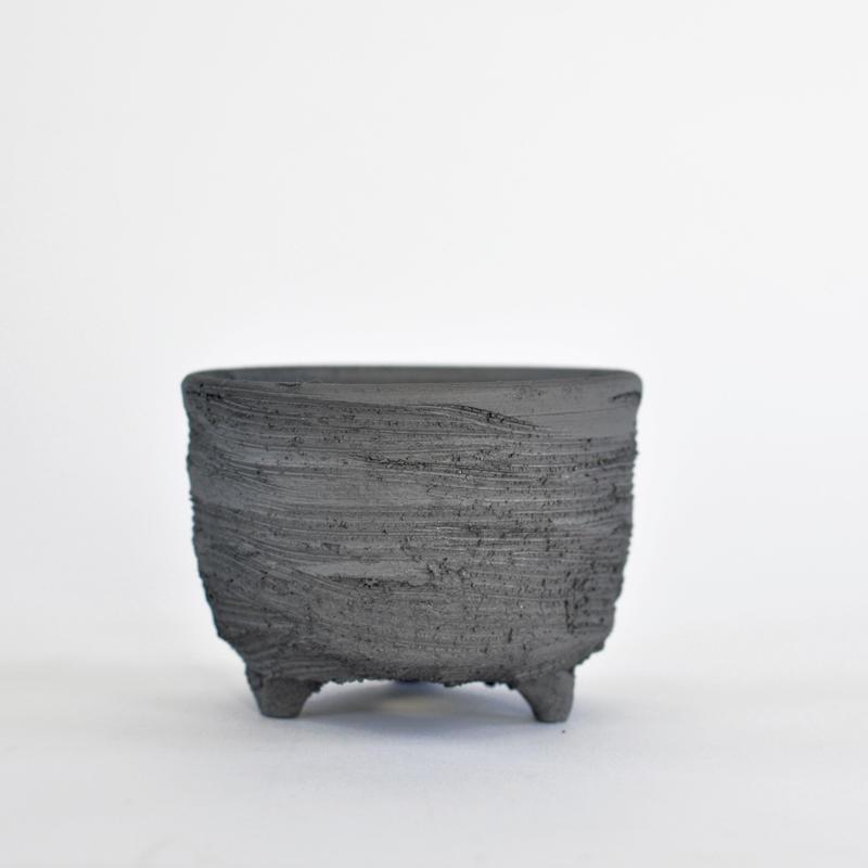 陶器鉢 -イブシ169 M-