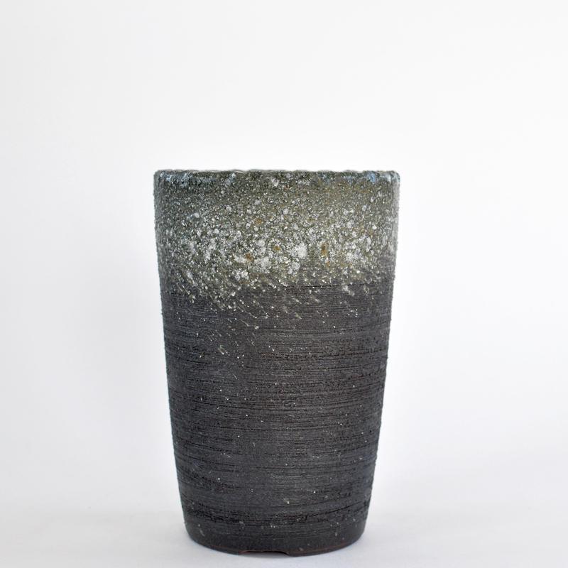 陶器鉢 -青釜変長-