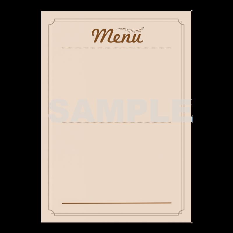 【POPテンプレート】メニュー(menu)