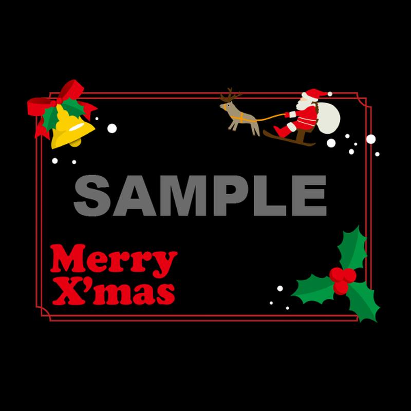 【POPテンプレート】クリスマス(ブラックボード)