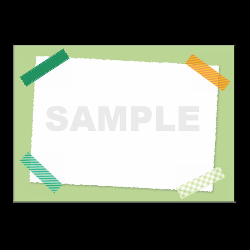 【POPテンプレート】マスキングテープ(黄緑・グリーン)