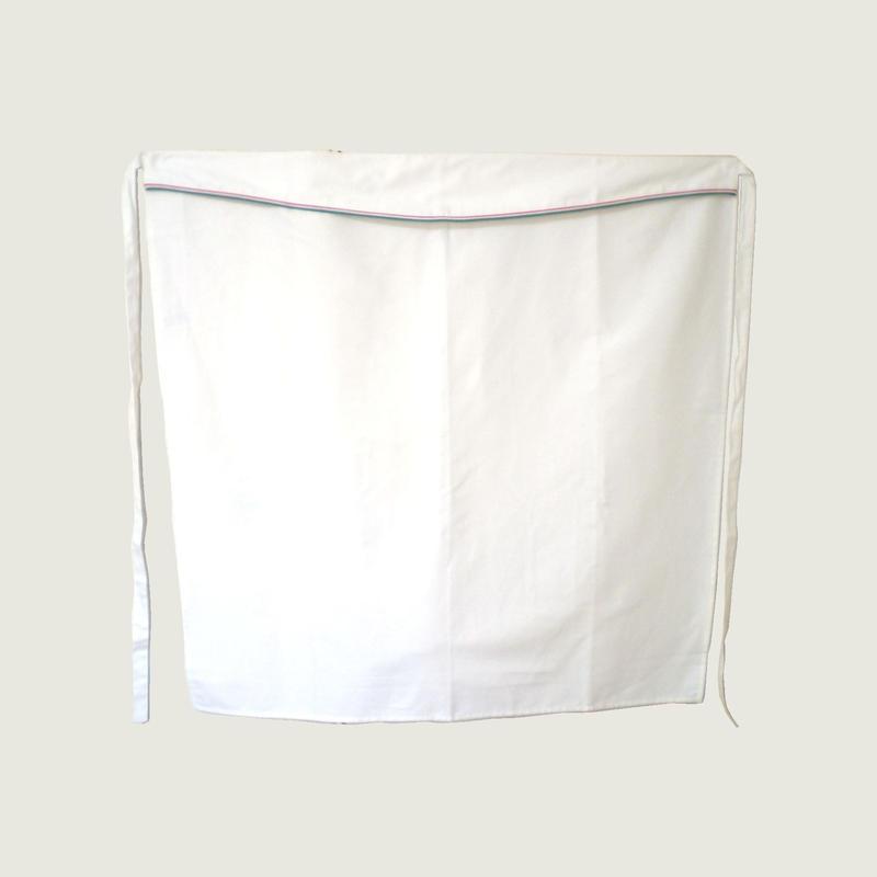 【イタリア製】サロンエプロン(ロング) プリンス・イタリア(イタリア国旗柄パイピング)エゴシェフ