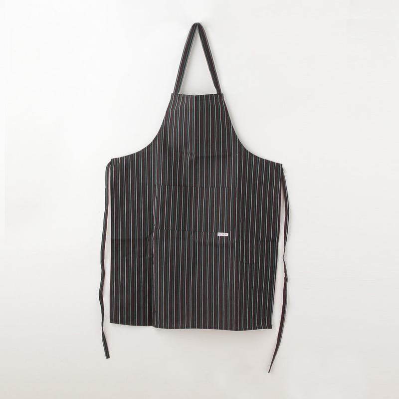 【イタリア製】胸付きシェフエプロン イタリア(イタリア国旗ストライプ柄)エゴシェフ