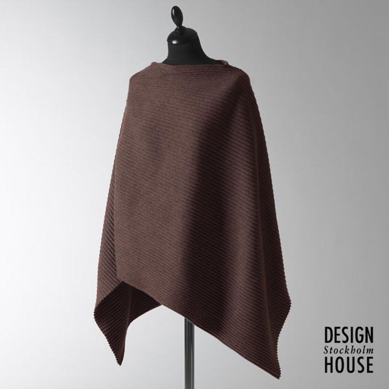 DESIGN HOUSE Stockholm〈デザインハウス・ストックホルム〉/ プリースポンチョ【Pleece Collection】チョコレート