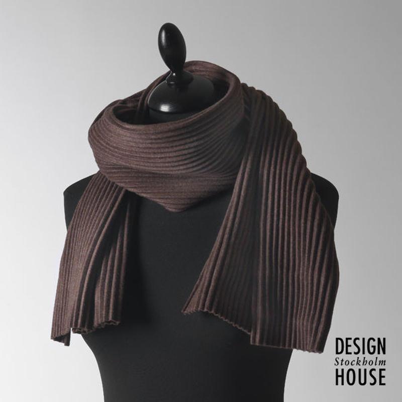 DESIGN HOUSE Stockholm〈デザインハウス・ストックホルム〉/ ショートマフラー【Pleece Collection】チョコレート