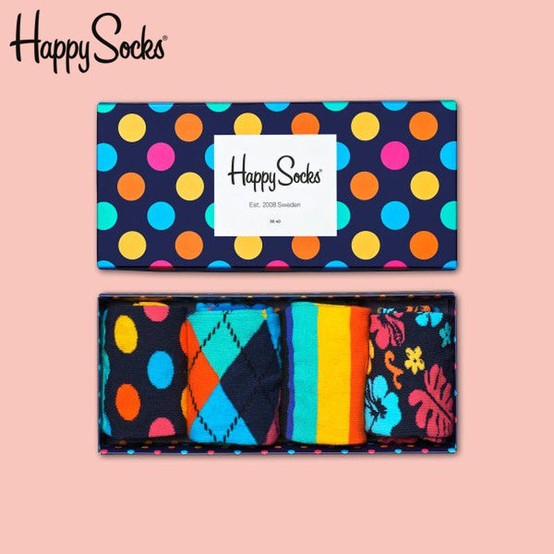 Happy Socks〈ハッピーソックス〉/ 4足ボックスセット【XBD09-068】