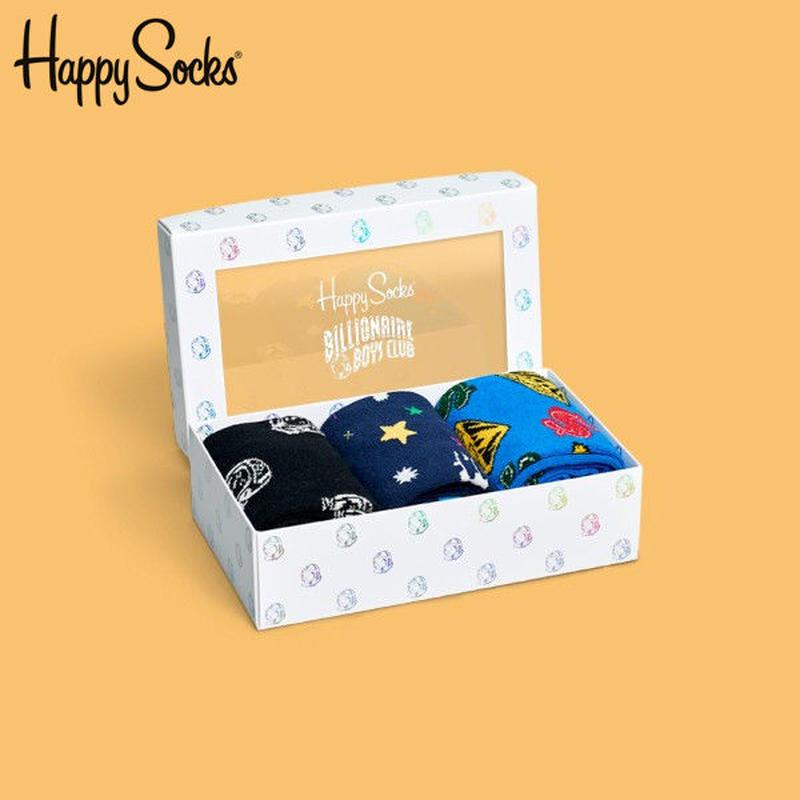 Happy Socks〈ハッピーソックス〉/ 3足ボックスセット【XBBC08-100】