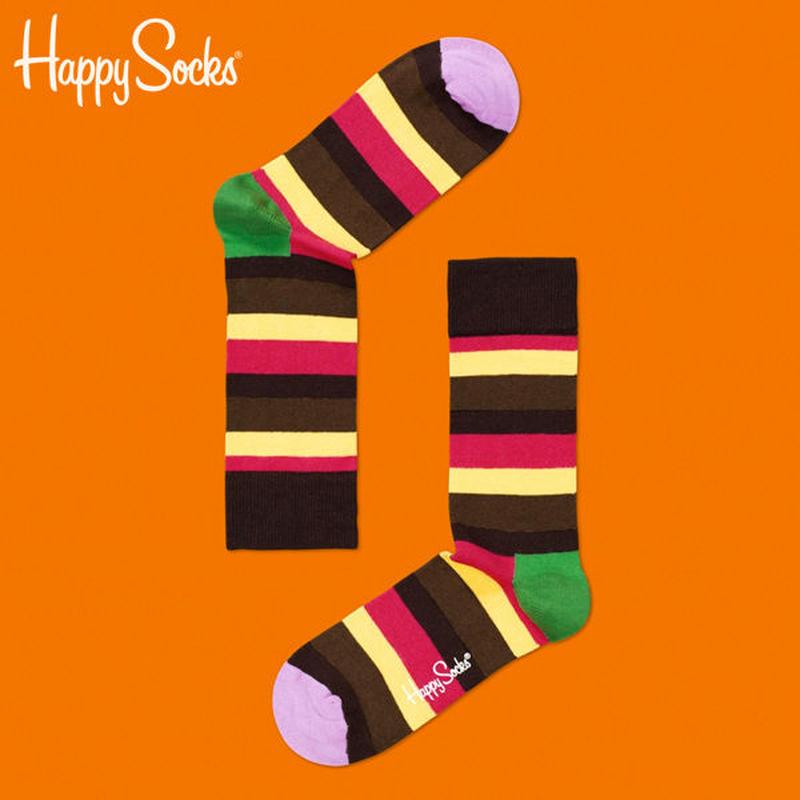 Happy Socks〈ハッピーソックス〉/ 靴下 ストライプ【sa12004】