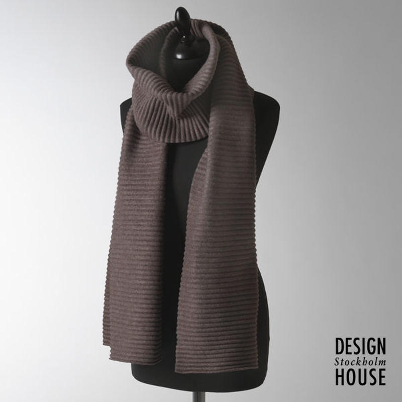 DESIGN HOUSE Stockholm〈デザインハウス・ストックホルム〉/ ロングマフラー【Pleece Collection】チョコレート