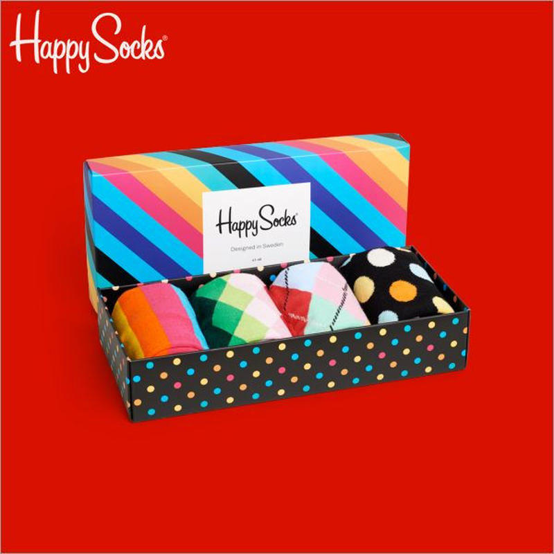 Happy Socks〈ハッピーソックス〉/ 4足ボックスセット【XSA09-601-7AW】